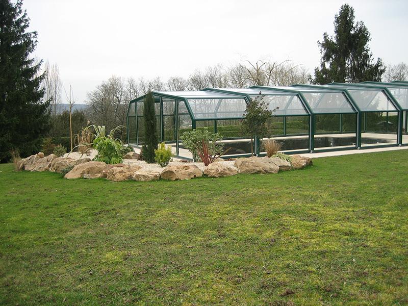 Arcadia High Enclosure Pool Enclosure 5-Angle
