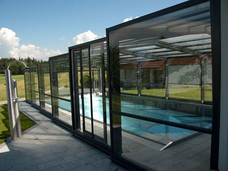 Maestro High Enclosure Pool Enclosure 3-Angle